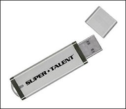 4 Gb SILVER FLASH DRIVE