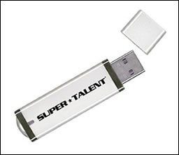 4 GB WHITE FLASH DRIVE
