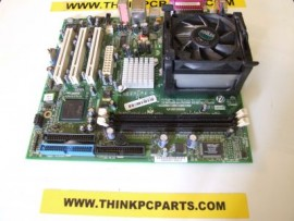 HP & EMACHINES IMPERIAL GL VE SOCKET 478 SYSTEM BOARD WITH INTEL CELRON SL6V2 2.4Ghz PROCESSOR AND FAN # 20021218