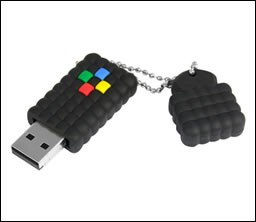 4 GB RUGGED RUBBER FLASH DRIVE