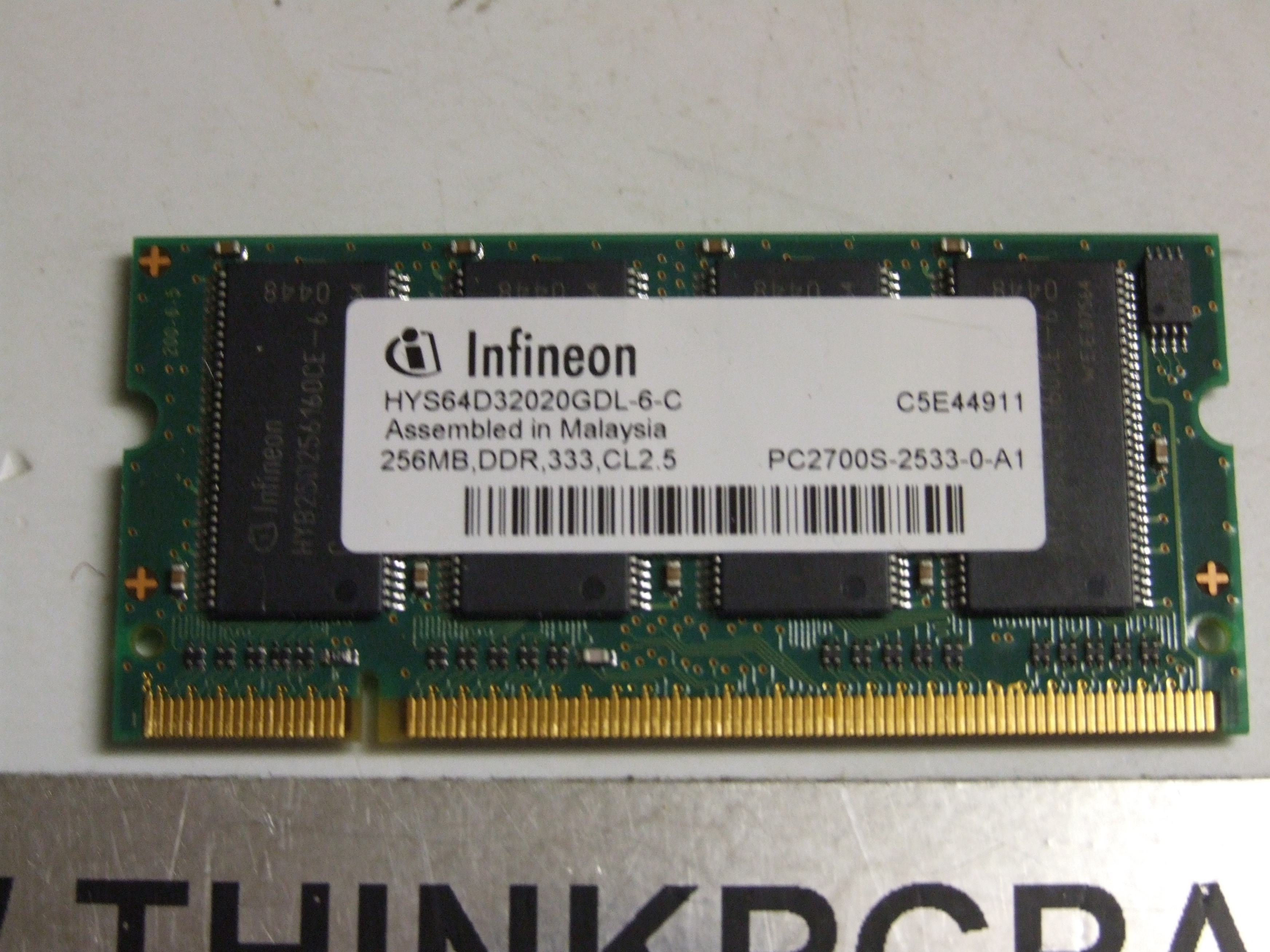 256MB DELL INSPIRON 9200 9300 PP14L INFINEON MEMORY PC2700 PC2700S-2533-0-A1