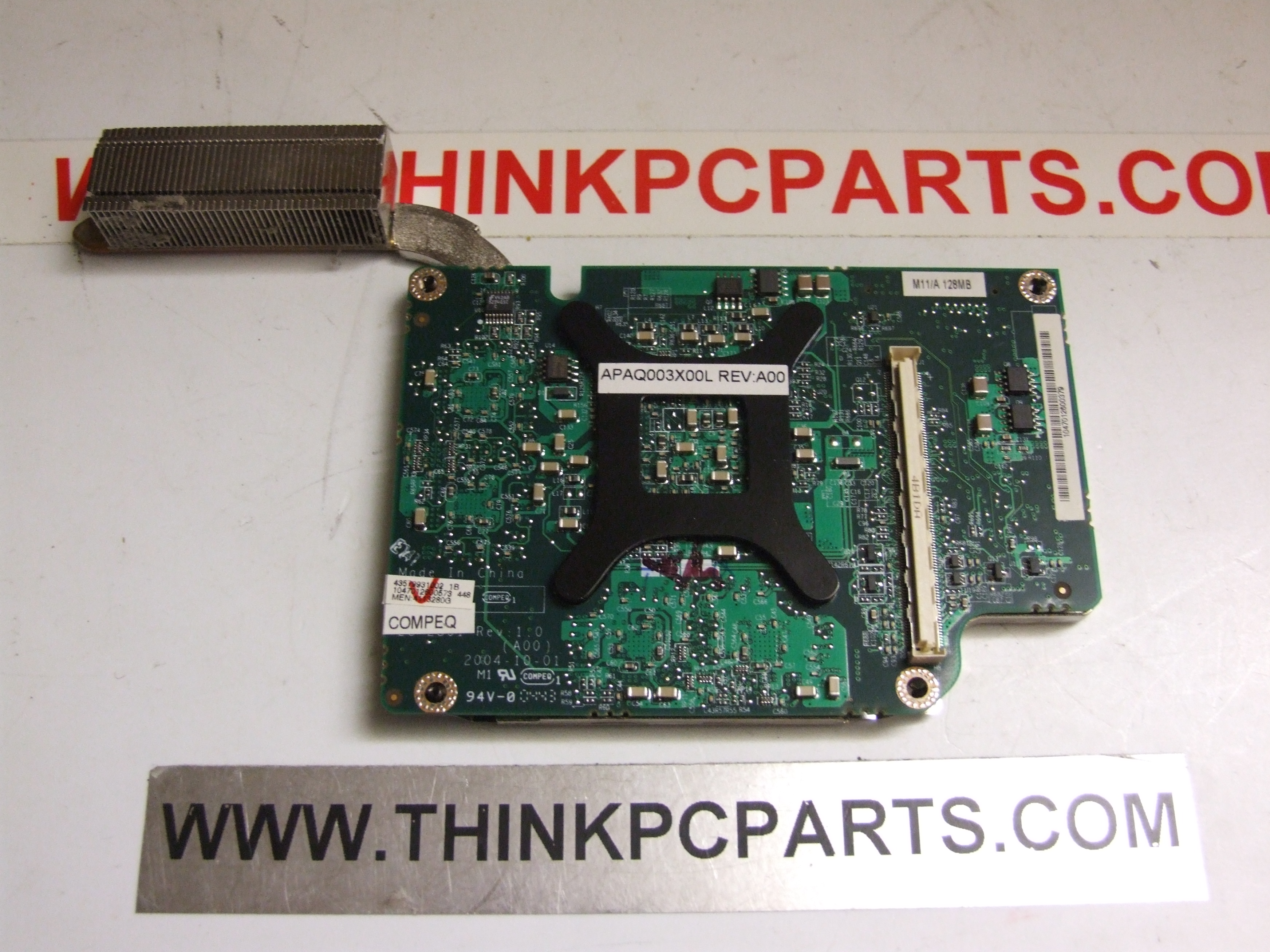 DELL INSPIRON 9200 PP14L 128MB VIDEO CARD WITH HEAT SINK 0G7354 G7354